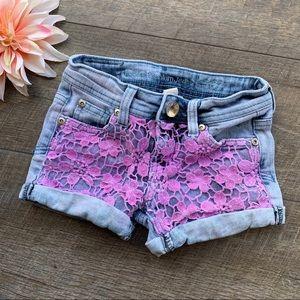 Justice Premium Jean Pink Shorts
